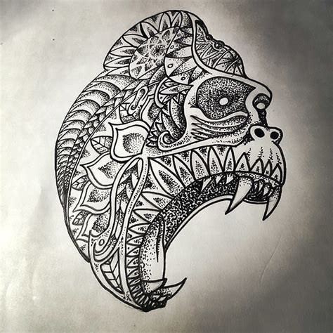gorilla tattoo art