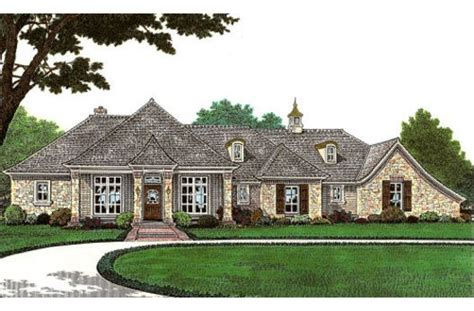 french country one story house plans single story french country house facade pinterest