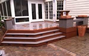 deck to patio transition a home landscape ideas
