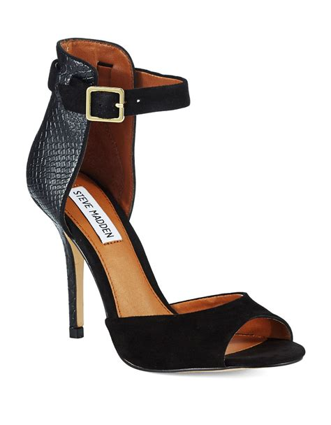 steve madden step out high heel sandals in black lyst
