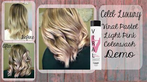 viral light pink shoo pastel pink hair celeb luxury viral colorwash demo