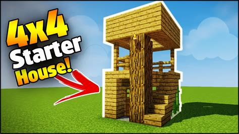 want to build a house minecraft 4x4 starter house tutorial how to build a