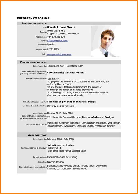 Resume Format New Models 9 New Cv Format 2017 Cna Resumed