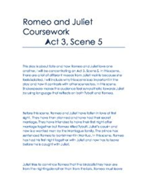 themes in romeo and juliet act 3 scene 1 romeo and juliet coursework act 3
