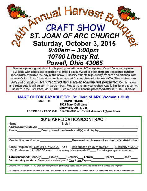 Craft Show Vendor App 2015 Pop Up Shop Pinterest Craft Craft Vendor Application Template