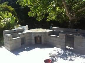 kitchen how to build outdoor kitchen with cinder blocks
