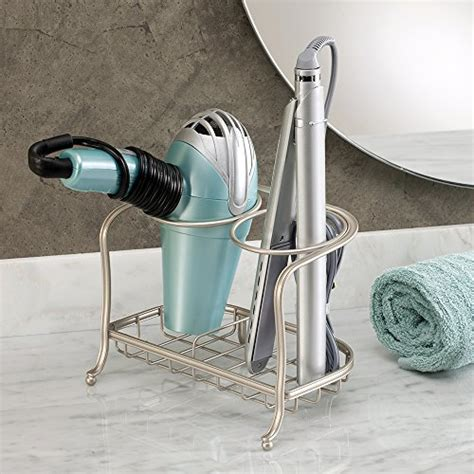 Hair Dryer And Straightener Organiser interdesign york lyra vanity countertop hair dryer flat iron holder sa ebay