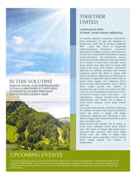 nature templates for word nature newsletter template template newsletter templates