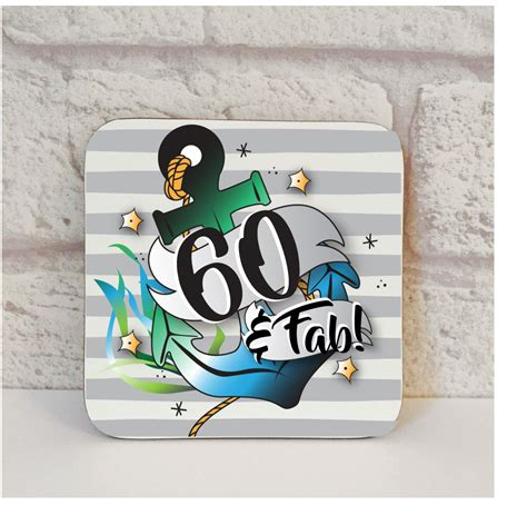 60th birthday gift for him affordable coaster from
