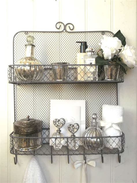 shabby chic kitchen shelving shabby chic vintage metal wall shelf unit rack hooks