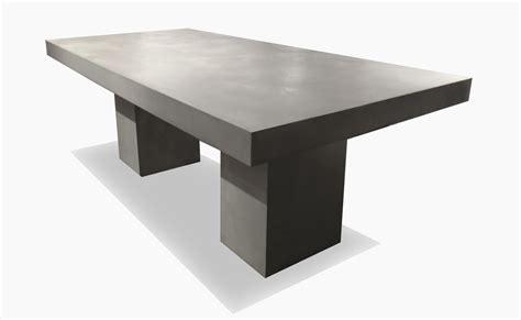 Fabrication de meubles en beton sur mesure
