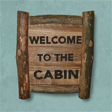 Rustic Cabin Signs by Welcome To The Cabin Rustic Lodge Sign