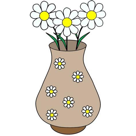 disegni vasi disegno di vaso di margherite a colori per bambini