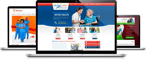 healthcare custom web design affordable free layout