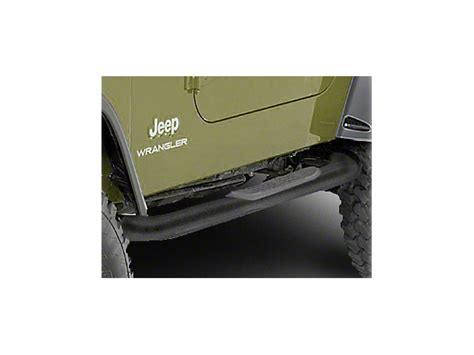 rugged ridge side steps rugged ridge wrangler side steps textured black 11591 03