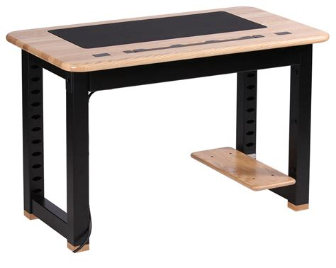 Small Desk With Shelves Altra Cherry And Black Small