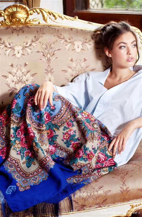 Pasmina Sofia Flower russian shawl russian scarf ch 226 le russe foulard russe https www etsy listing 120680019