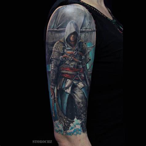 assassins creed tattoo assassin s creed tattoo on shoulder best tattoo ideas