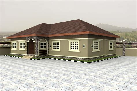Bungalow House Plan Home Plans For Bungalows In Nigeria Properties 4 Nairaland House Exterior Design