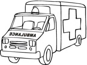 ambulance coloring page coloring home - Ambulance Coloring Pages