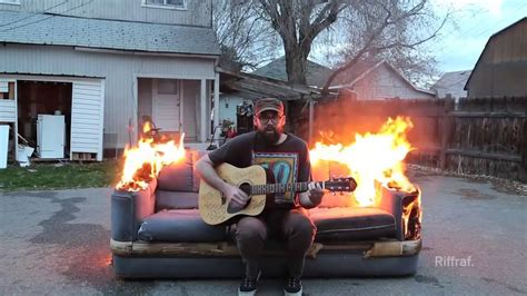 burning couches wvu video spotlight quot playing guitar on a burning couch quot by