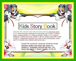 Childrens Book Templates by Story Writing Book Template Word Excel Templates