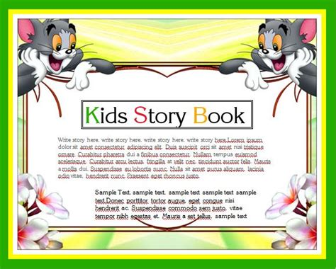 writing a children s picture book story writing book template word excel templates