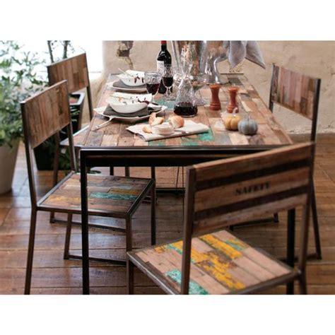 Table Salle A Manger Contemporaine 691 by Tables Et Chaises M 233 Tal Et Bois De Bateau Recycl 233 S Id 233 Es