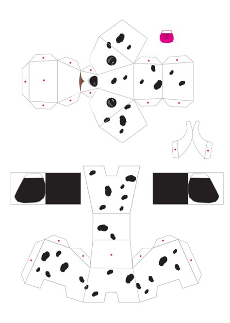 blog paper toy papertoys puppies template 4 preview