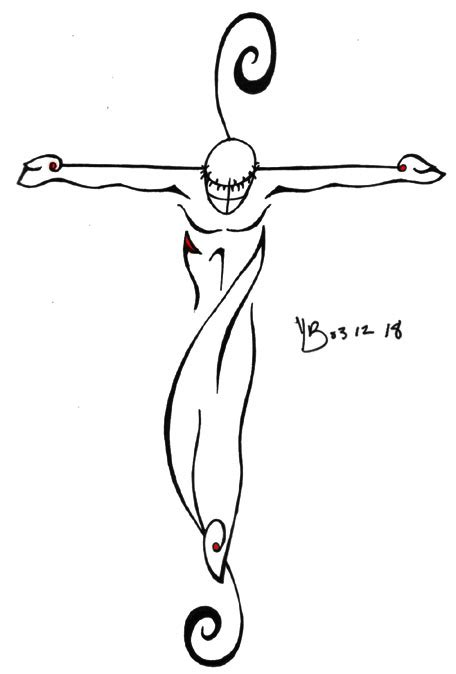 jesus tribal tattoos images jesus by pandalemur on deviantart