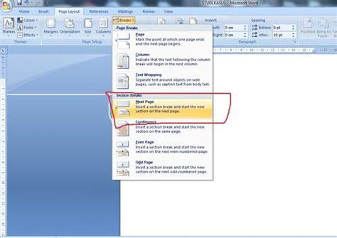 langkah langkah membuat format cover skripsi membuat cover skripsi laporan tanpa ada nomor halaman oleh