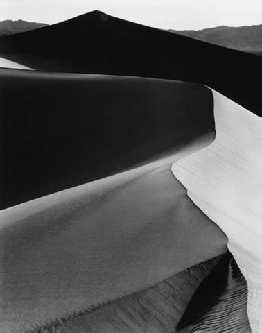 sand dunes, sunrise death valley by ansel adams