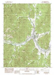 rogue river oregon map rogue river topographic map or usgs topo 42123d2