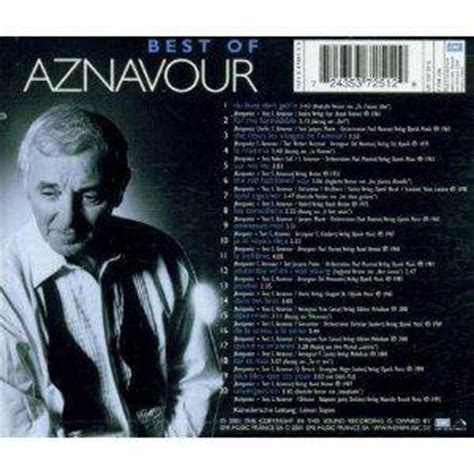 best of charles aznavour charles aznavour best of charles aznavour cd 2001