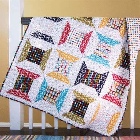 Patchwork Projects Free - retro spools quilt pattern favequilts
