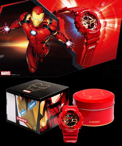 casio shock marvel avengers collection iron man ga