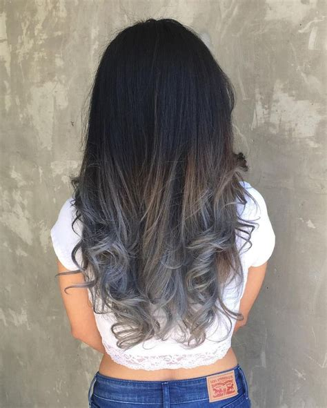 Harga Warna Rambut Silver Ombre by 1000 Ideas About Silver Ombre Hair On Silver