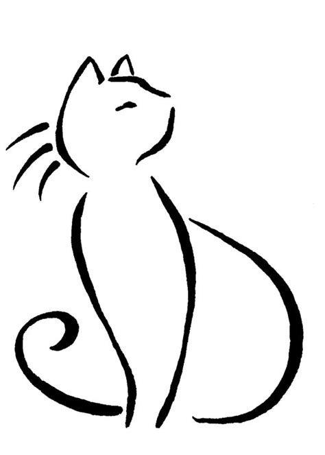 cat lines cat line drawing search line drawings