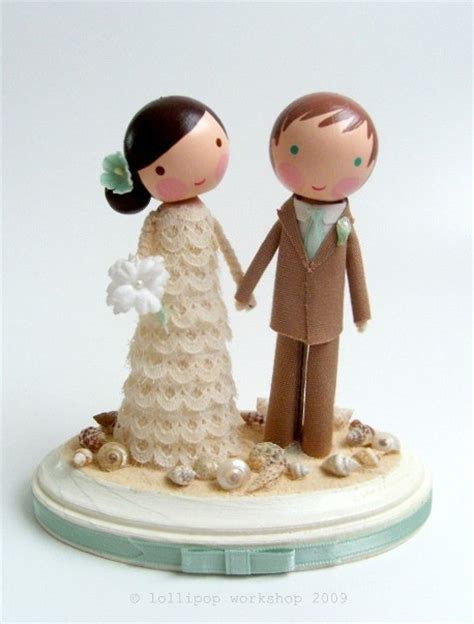 Handmade Wedding Cake Toppers - custom wedding cake topper by lollipopworkshop on etsy