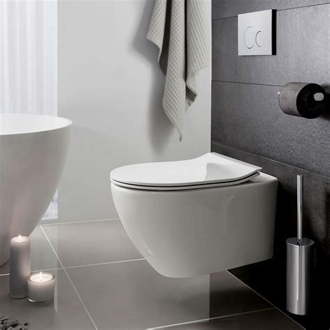 trennwand toilette bauhaus svelte wall hung toilet uk bathrooms