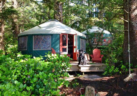 friendly gling yurts cabins and huts in washington