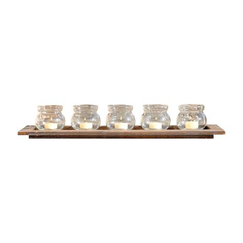 southern enterprises resin tealight fireplace log candle