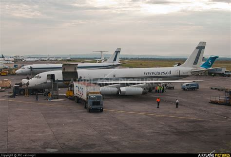 9q cjg trans air cargo service tacs douglas dc 8 62cf at n djili kinshasa intl photo id