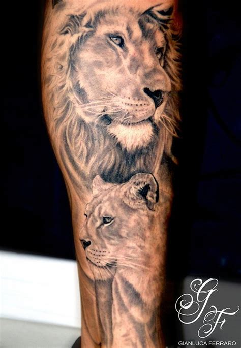lion and lioness tattoo 35 cool designs for