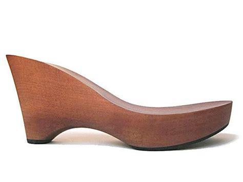 diy platform shoes wooden clog shoe platform mid brown stained wood make your