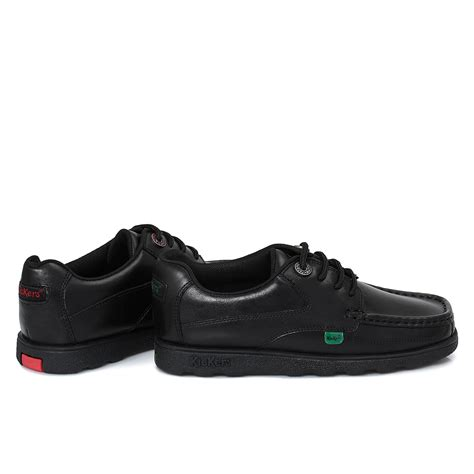 Ready Shoes Kickers Slop Black kickers fragma black lace up junior school shoe size