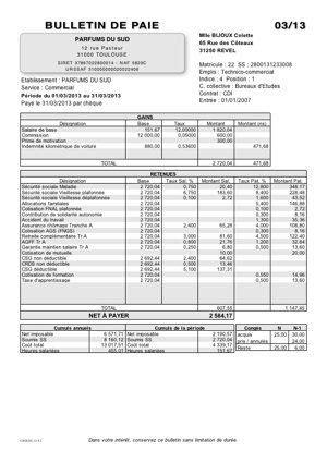 Télécharger modele de fiche de paie excel 2013 gratuit