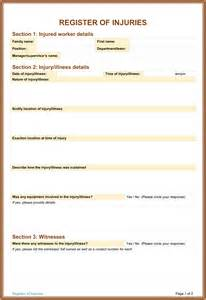 injury disclaimer template 5 sle injury form templates to create an injury report