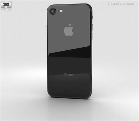 apple iphone 7 jet black 3d model electronics on hum3d