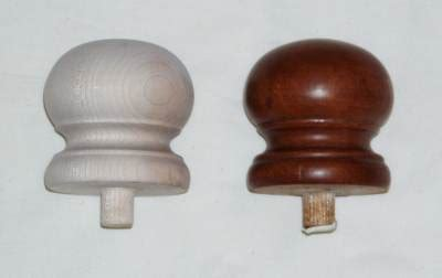 Wooden Bedpost Knobs by Finials Wood Hollow
